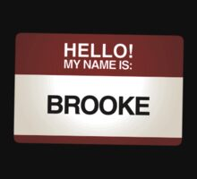 NAMETAG TEES - BROOKE by webart