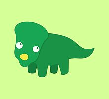 Green dinosaur cute! by jazzydevil