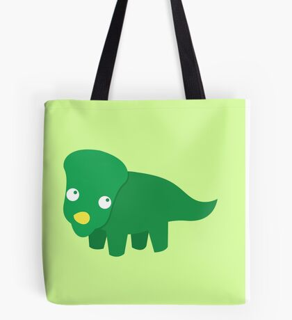 Green dinosaur cute! Tote Bag