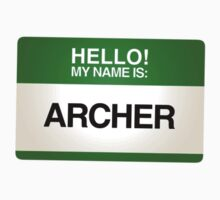 NAMETAG TEES - ARCHER by webart