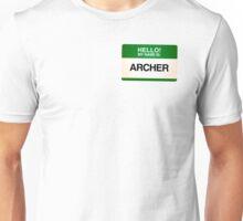 NAMETAG TEES - ARCHER Unisex T-Shirt