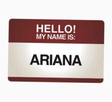 NAMETAG TEES - ARIANA by webart