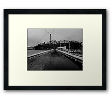 Cold desolate pier Framed Print
