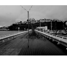 Cold desolate pier Photographic Print
