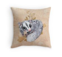 Sugar Glider! Throw Pillow