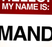 NAMETAG TEES - AMANDA Sticker