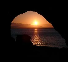 """Sunset through a keyhole"" by Kathryn Page"