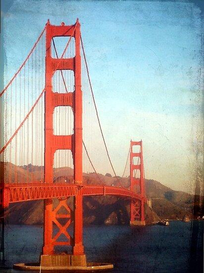 Vintage Golden Gate Bridge By Cleber Photography Design