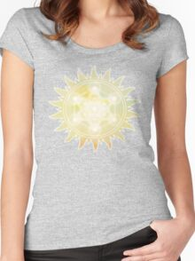 Sacred Geometry: Metron's Cube - Sun Women's Fitted Scoop T-Shirt