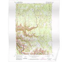 USGS Topo Map Oregon Howard Butte 280258 1964 24000 Poster