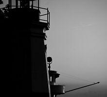 """Harbor Town Silhouette"" by Robert Burdick"