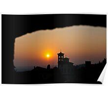 Sunset at Bergamo - Italy Poster