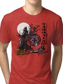 Samhain (Halloween) Creepy Scene Tri-blend T-Shirt