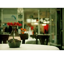 Dinner in the Arcade Photographic Print