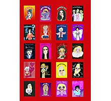 Demented Diva Assembled Cast - Red Photographic Print