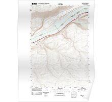 USGS Topo Map Oregon Rufus 20110903 TM Poster