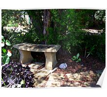 Serenity in a peaceful garden Poster