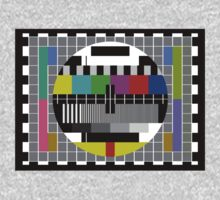 TV Test Pattern T-shirt One Piece - Short Sleeve