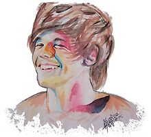 Louis Tomlinson in watercolor by drawpassionn