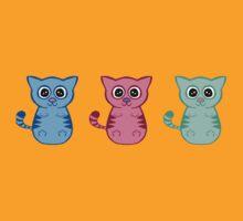 Three Sleepy Kittens by WyrmKnave