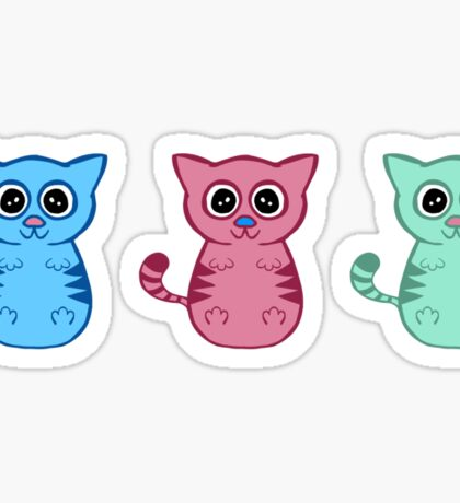 Three Sleepy Kittens Sticker