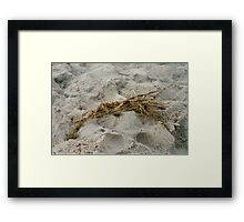 """""""Sand between your toes"""" Framed Print"""