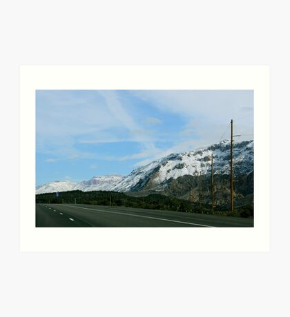 On the Mountain Road Art Print