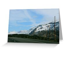 On the Mountain Road Greeting Card