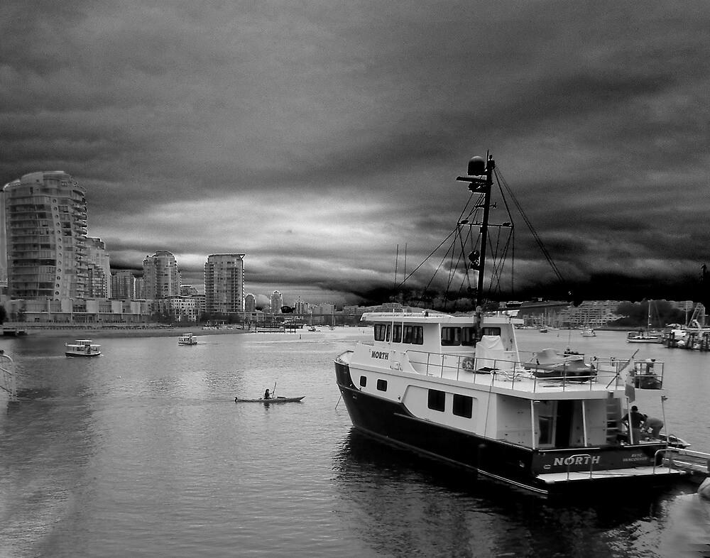 Storm over False Creek by Linda Sparks