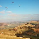 Paragliding At Edale Summit by Franco De Luca Calce