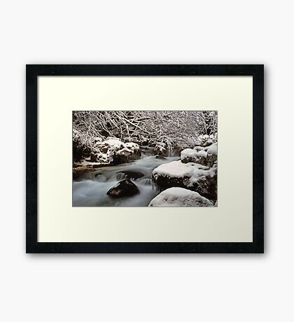 Zauberwald Stream - Winter 1985 Framed Print