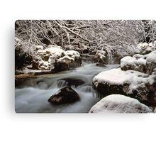 Zauberwald Stream - Winter 1985 Canvas Print