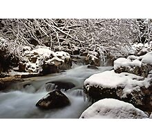 Zauberwald Stream - Winter 1985 Photographic Print