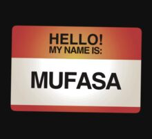 NAMETAG TEES - MUFASA by webart