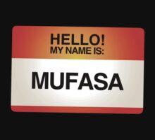 NAMETAG TEES - MUFASA by webart