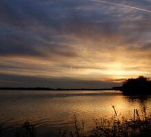 Ohio River Sunset by Sandy Keeton