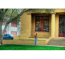 Cowboy - Fort Worth Stock Exchange- Fort Worth , Texas Photographic Print
