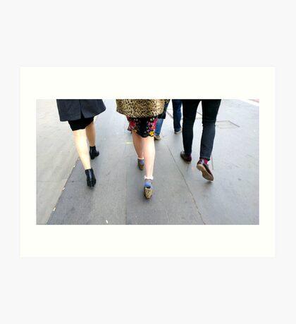 Fashion On The Move Art Print