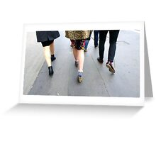 Fashion On The Move Greeting Card