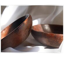 Hand Carved Bowls-Africa Poster