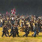 A full Confederate charge by ©  Paul W. Faust