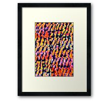 Coloured Decorations Framed Print