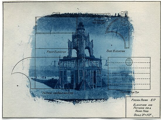 Trash Tea House Cyanotype by Jane Linders