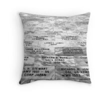 Memorial to Fallen Soldiers Throw Pillow