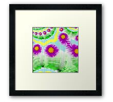 Far-out Thistle Blossoms Framed Print
