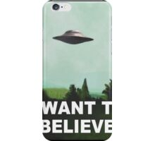 I want to believe (green) iPhone Case/Skin
