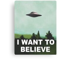 I want to believe (green) Canvas Print