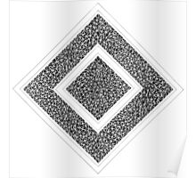 Mosaic Cube White Poster
