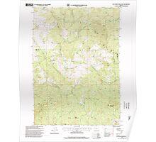 USGS Topo Map Oregon Calf Ranch Mountain 279237 1996 24000 Poster
