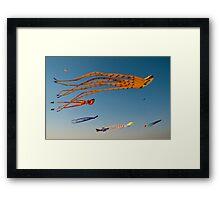 Kites flying high Framed Print